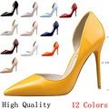 High Quality Thin High Heels Ladies High Heel Shoes Women Stiletto Woman Pointed Toe Party Wedding Shoes Kitten Heels Scarpin