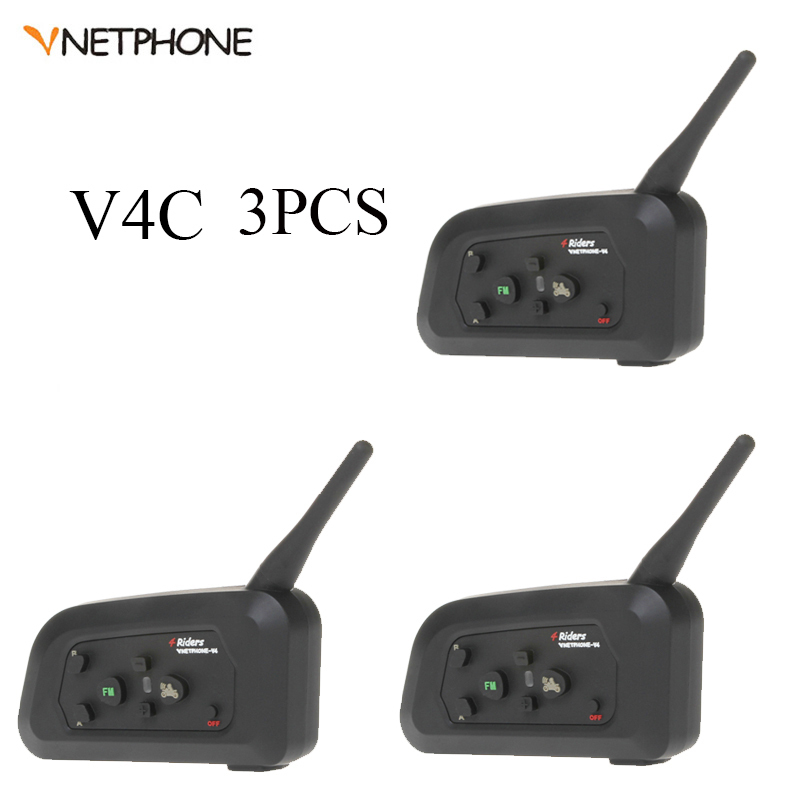 3 pièces Vnetphone professionnel Football arbitre Interphone système Bluetooth Football Arbitro Communication arbitres casque Interphone