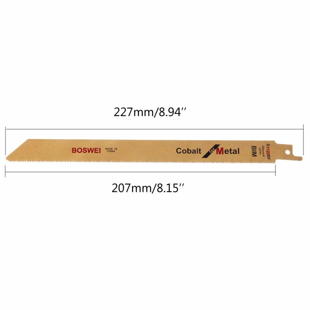 "5 pcs S1122BF BIM 9/"" 227 mm Alternatif Sabre Lames De Scie Set Flexible for Metal"