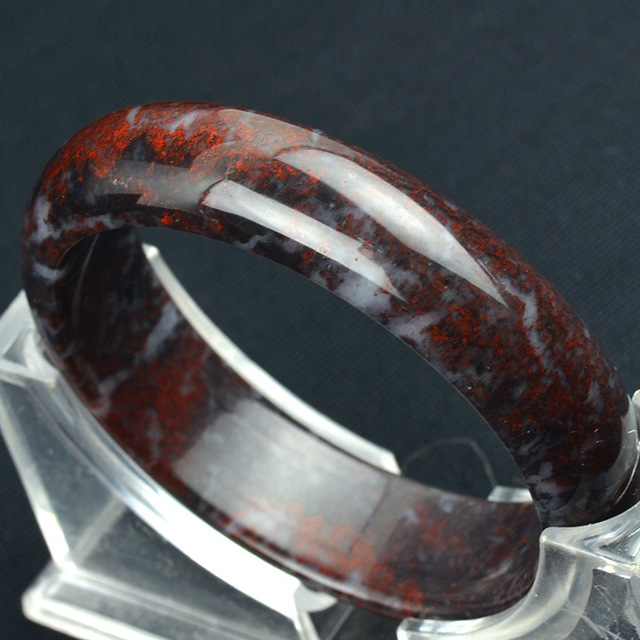 Natural Guangxi chicken Blood Stone Bangle, Rushed Hot Sale Jewelry Bangles  Natural Beads Bracelet Gem