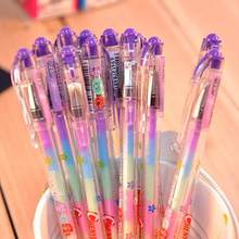 1 Piece Korean Stationery Cartoon Cute Lovely Candy Color Gel Pens Student School Supply 1 Pcs with 7 Colors(China)