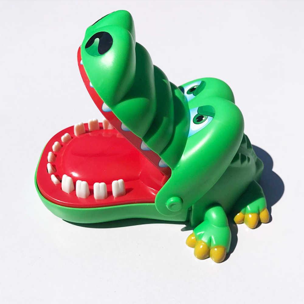 حجم كبير الفم طبيب الأسنان لدغة إصبع لعبة كبيرة التمساح سحب الأسنان بار ألعاب لعب الاطفال مضحك لعبة للأطفال هدية