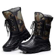 Snow-Boots Ski Men Snow-Walking-Shoes Lacing Mountaineering Front Outdoor Hunting Waterproof
