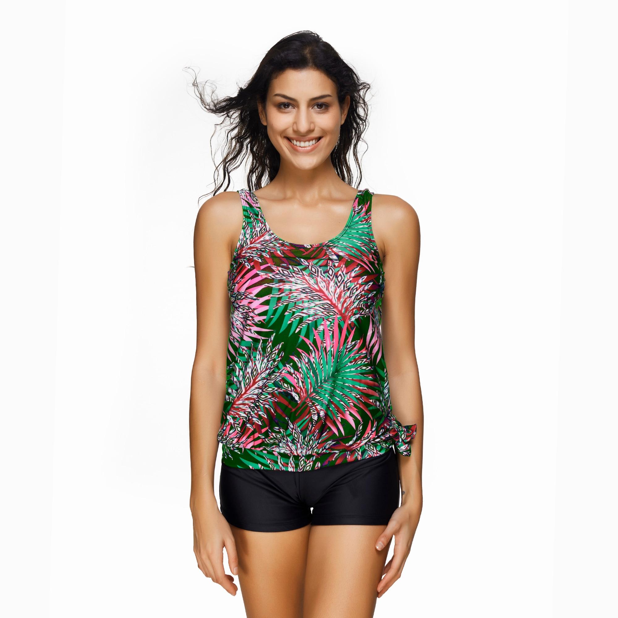 TCBSG Sports Vest Swimsuit Women Swimwear Print Swim Trunks Swimming Bodysuit Cover Up Pool Bather Hot Sale Bikini Bathing Suit