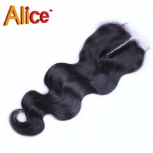 7A Best Virgin 4×4 Brazilian Body Wave Closure Deep Wave Closure Free/2/3Part Lace Closure Bleached Knots DHL Free Shiping