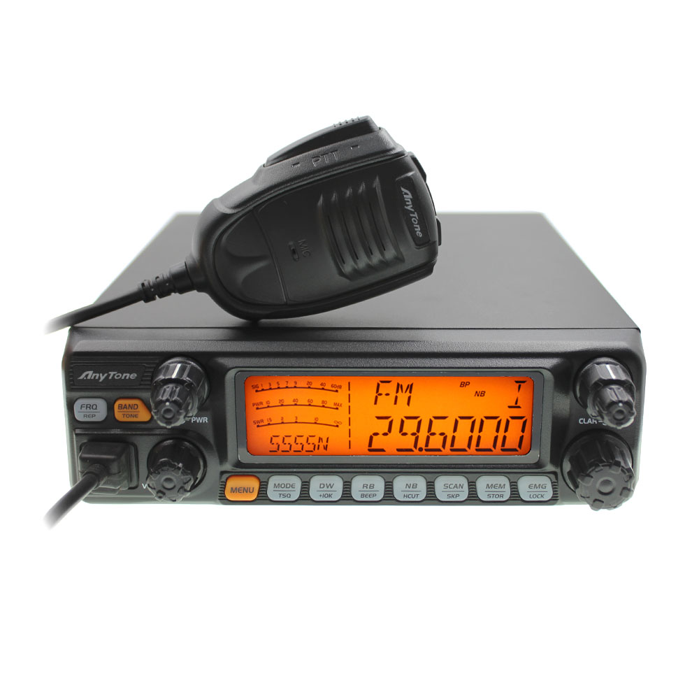 CB Radio ANYTONE AT-5555N 25.615 - 30.105 Mhz 40 Channel Mobile Transceiver AT555N AM/FM/SSB 11 Meter Radio