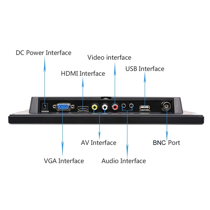 Image 3 - 10.1 inch 1280x800 HD Touch Screen for PS3/4 Computer Xbox Portable Display Security Monitor with Speaker VGA HDMI Interface-in LCD Monitors from Computer & Office