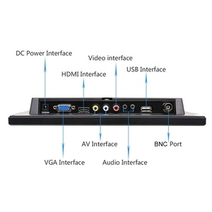 Image 3 - 10.1 inch 1280x800 HD Touch Screen for PS3/4 Computer Xbox Portable Display Security Monitor with Speaker VGA HDMI Interface