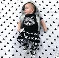 Nuevo verano ropa estilo de la alta calidad del algodón del bebé historieta de la ropa t-shirt + pants 2 unids recién nacido bebe arropan el sistema