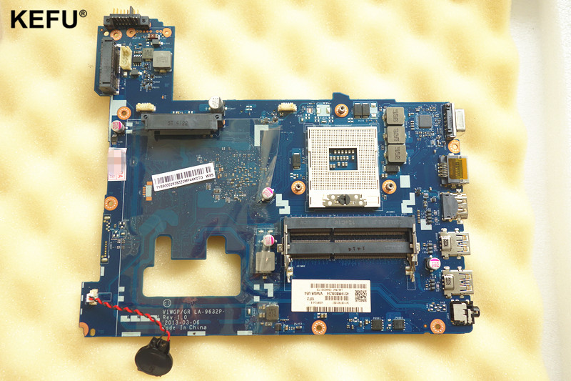 Available new Laptop Motherboard Fit For Lenovo G500 Motherboard LA-9632P HM76 PGA989 DDR3 100% Fully Tested high quality suitable for lenovo y500 laptop motherboard qiqy6 la 8692p pga989 gt650m 2gb ddr3 hm76 package well