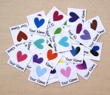 96 stuks Aangepaste logo labels/merk labels, gepersonaliseerde naam tags voor kinderen, ijzer op, aangepaste Kleding Labels, Naam Tags