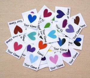 Image 1 - 96 sztuk własne logo etykiety/metki z logo, spersonalizowana nazwa tagi dla dzieci, żelazko na, spersonalizowane etykiety odzieżowe, plakietki