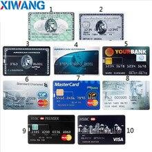Real Capacity Bank Card USB Memory stick HSBC Master Credit card USB Flash Drive 64gb Pendrive 4GB 8GB 16GB 32GB pen drive 128gb цена и фото