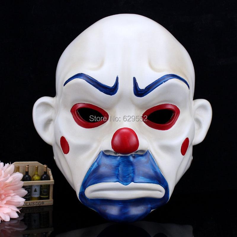 Resin Crafts Halloween Mask Batman Mask Joker Sad Clown