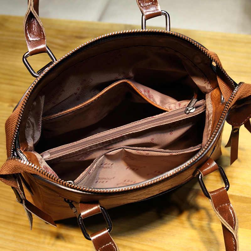 Hakiki deri kadın çanta 2019 yeni kadın kore moda çanta Crossbody şekilli tatlı omuz çantası bayanlar Tote T22