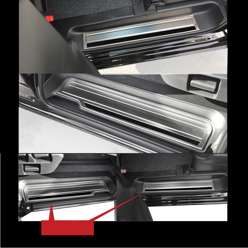 JY 4PCS SUS304 Door Sill Scuff Plate Guard Cover Trim Car Styling Accessories For NISSAN SERENA C27 2016 On