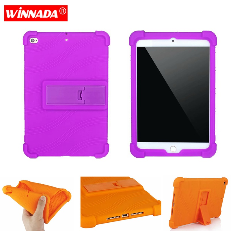 Capa de Silicone para ipad mini 5/mini 4 capa tablet caso de borracha macia com moive stand coque para para Apple ipad mini 2019