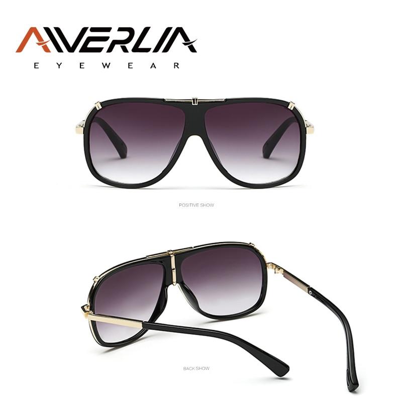 Image 4 - AIVERLIA Sunglass Man Vintage Mens Sunglasses Brand Designer Sunglass Male UV400 Gradient Lens Oculos Masculino Gafas AI41-in Men's Sunglasses from Apparel Accessories