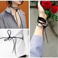 Choker moda colar de corda de couro camisola cadeia feminina longo colar de jóias gargantilhas velvet choker colares para as mulheres