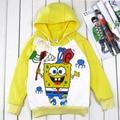 4pcs/lot Free shipping 2017 NEW Autumn Baby Wear Kids Clothing Boys Cartoon SpongeBob Hoodies Children Sweatshirts Terry Hoody