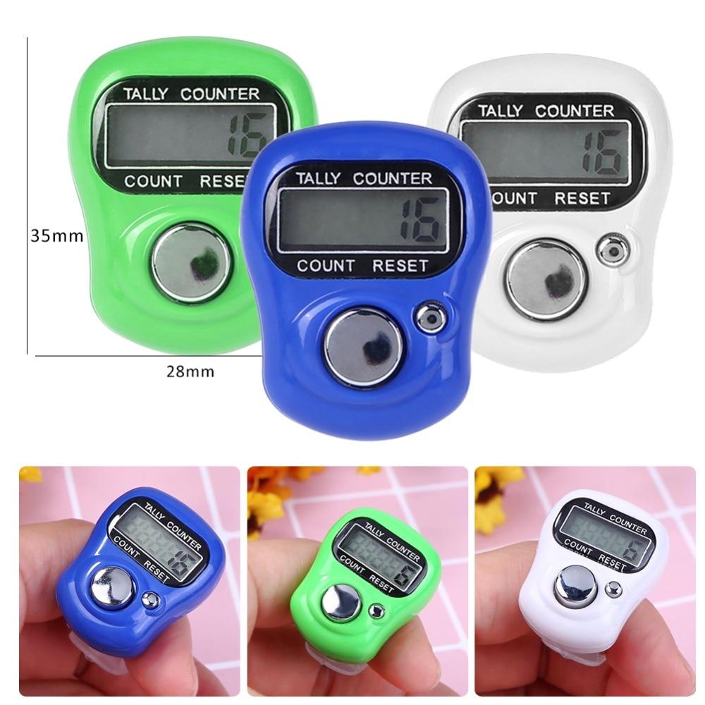 Oscuro Azul Mano Dedo Contador electr/ónico dedo contador Digital electr/ónica recuento