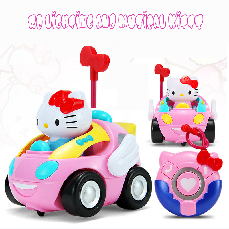 RC car toys Hello Kitty toy juguetes Anime carton Action figure Musical kids baby toy Cute