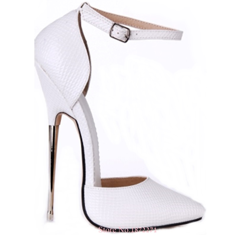 Summer Newest 13 16cm High Heels T stage Show Ankle Strap Shoes ... ae29d84d1a37