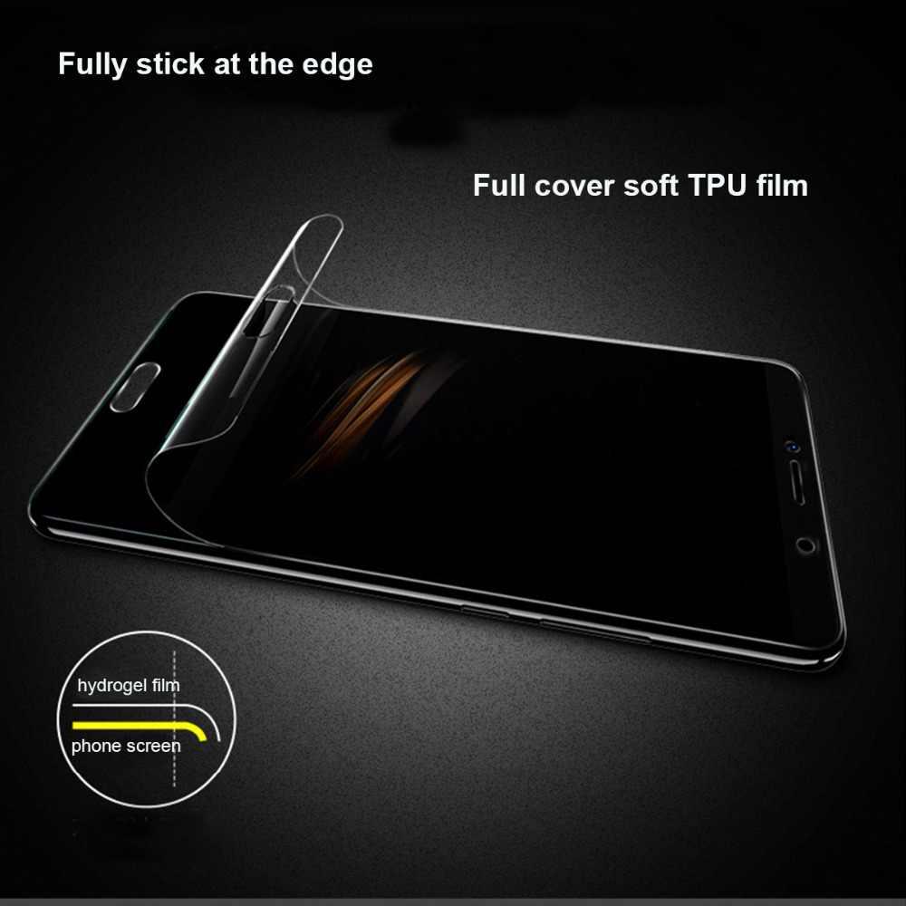 Mềm mại Đầy Đủ Bao Da Bảo Vệ Cho Samsung Galaxy A7 A8 A6 Plus J4 J6 J8 2018 Tấm Bảo Vệ Màn Hình M20 TPU hydrogel Bộ Phim Không Kính