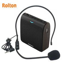 Rolon altavoz portátil K100 Mini amplificador de voz, micrófono con tarjeta TF USB, Radio FM para guía de recorrido educativo, promoción