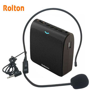 Image 1 - Rolton K100 Portable Loud Speaker Mini Voice Amplifier Microphone With USB TF Card FM Radio For Teacher Tour Guide Promotion