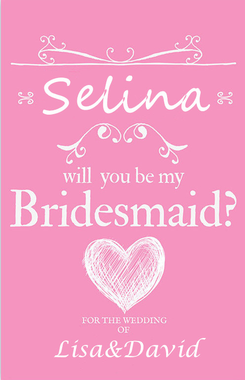 personalized will you be my bridesmaid wine champagne label thank