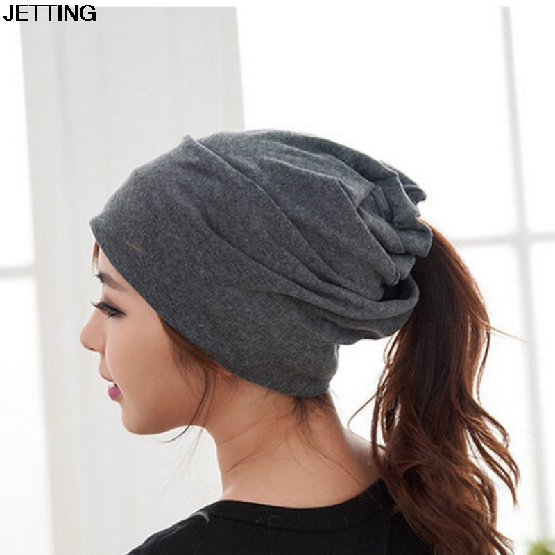 Autumn Winter Two Ways Wear Beanies Cotton Knitting Wool Unisex Soft Warm Hat Scarf Snood Hats Snood Caps Men Women Cap the new children s cubs hat qiu dong with cartoon animals knitting wool cap and pile