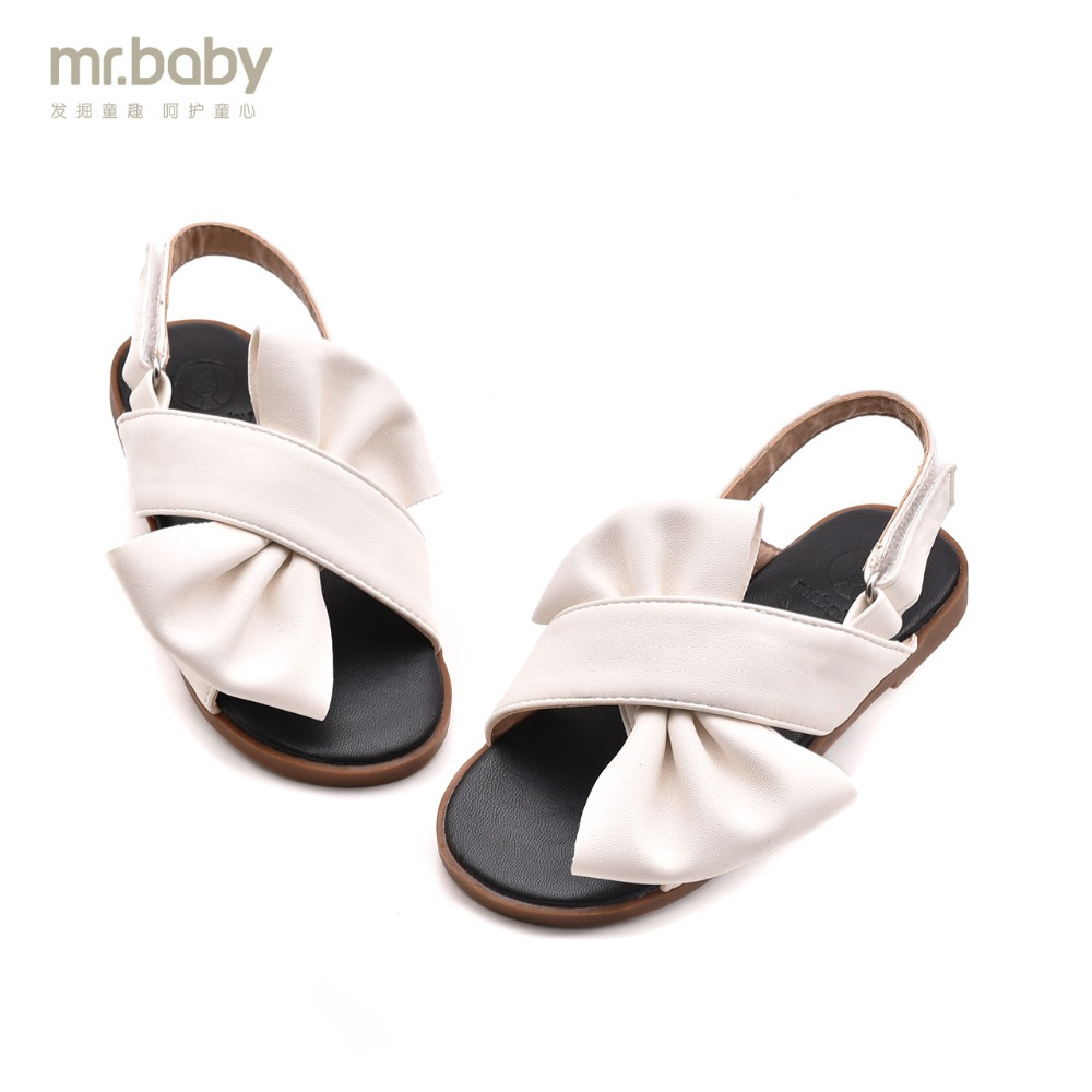 Mr.baby Original kids shoes 2018 New Summer Sweet Bowtie Princes Children Sandals ...