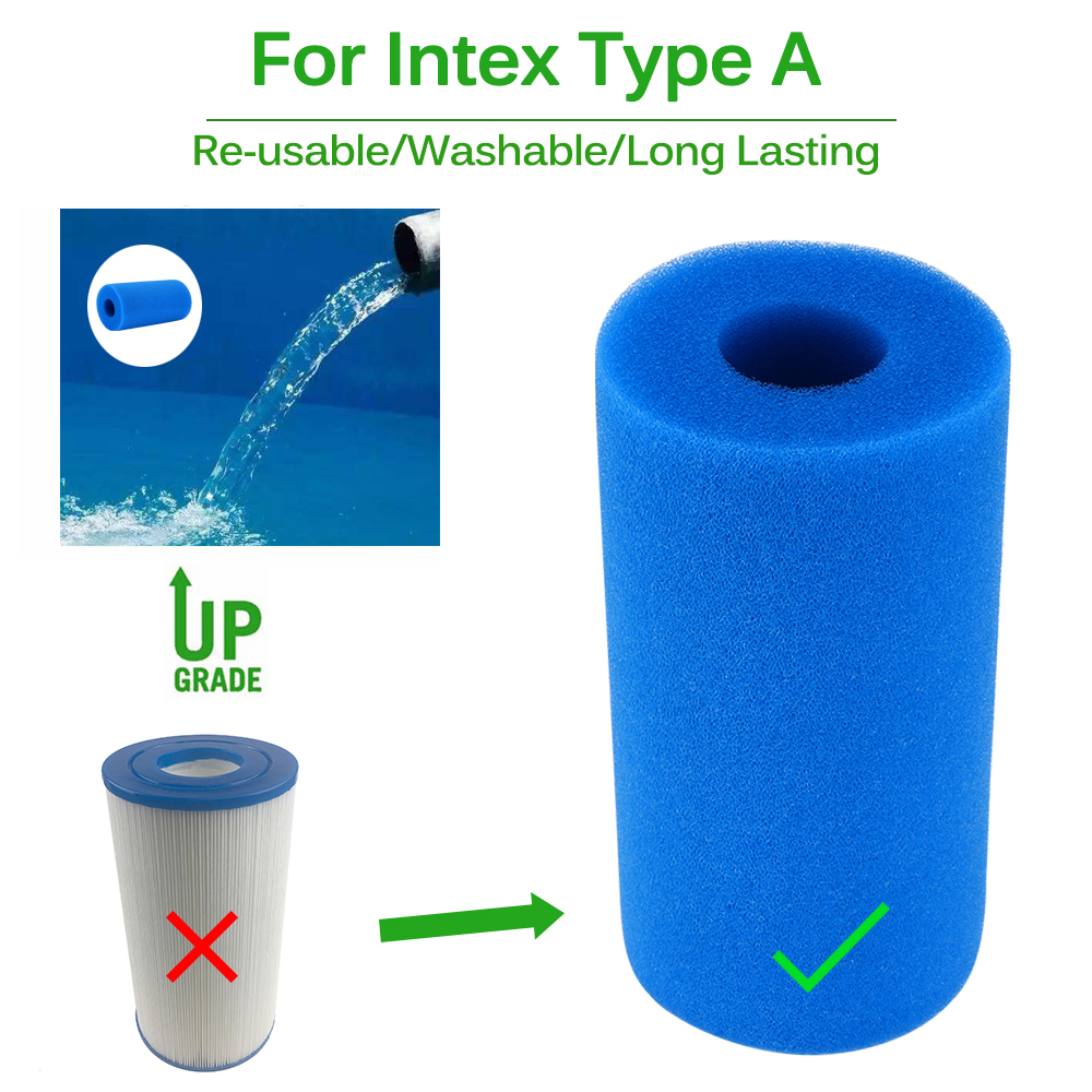 Cleaning Swimming Pool Accessories Foam Filter Sponge Reusable Re ...