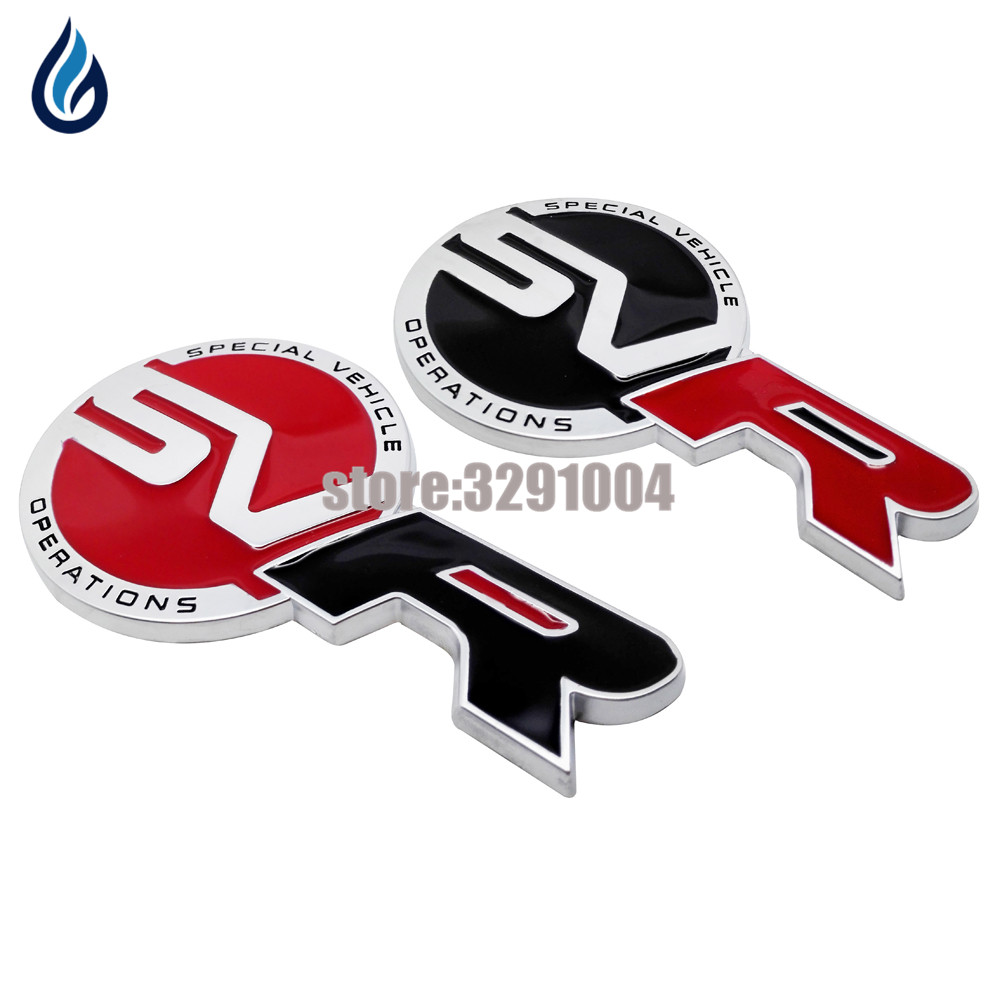 Fashsion Car Sticker Emblem Badge Body Sticker SVR Decal Decoration For Land Rover Range Rover Discovery Defender Freelander 4 auto chrome camaro letters for 1968 1969 camaro emblem badge sticker