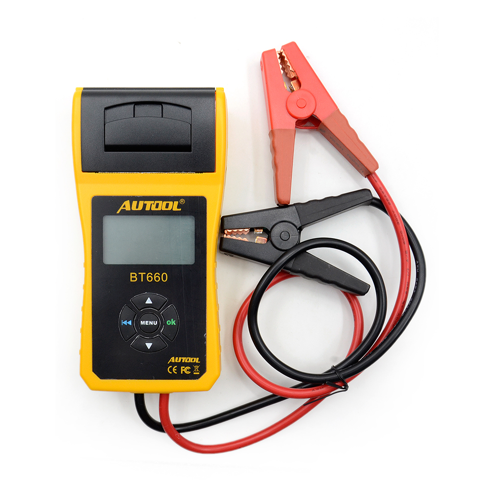 Multi language AUTOOL BT660 Battery Tester Built in Thermal Printer BT 660 Battery Tester Almost for