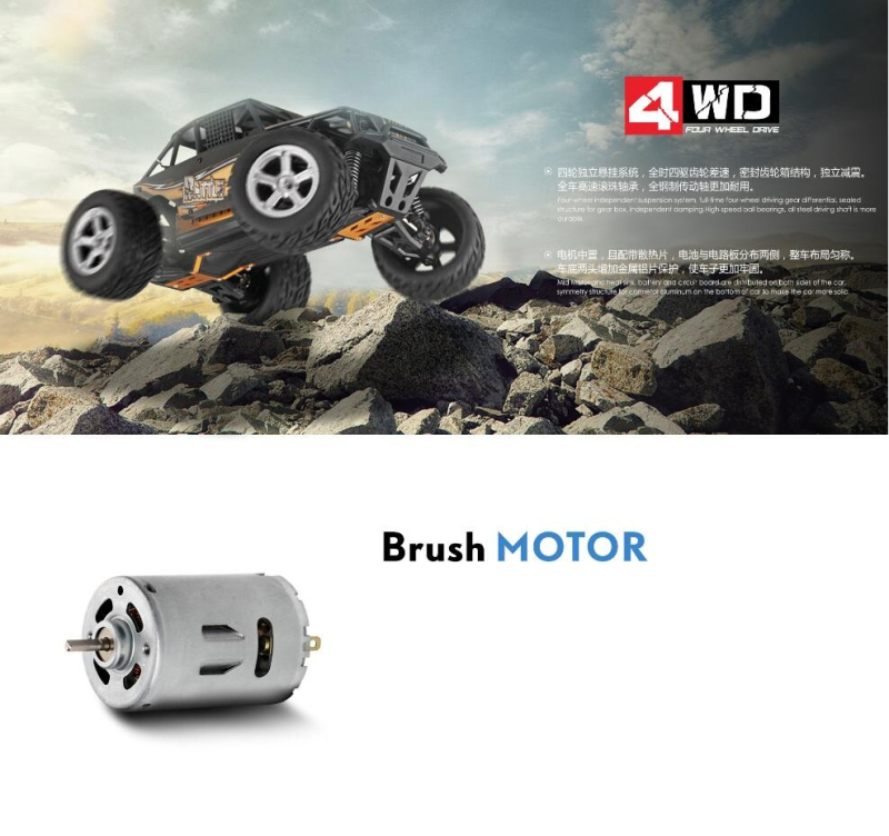 RC Tot 2 4G 1 20 Scale Electric 4WD Remote Control High Speed Brush Motor Racing