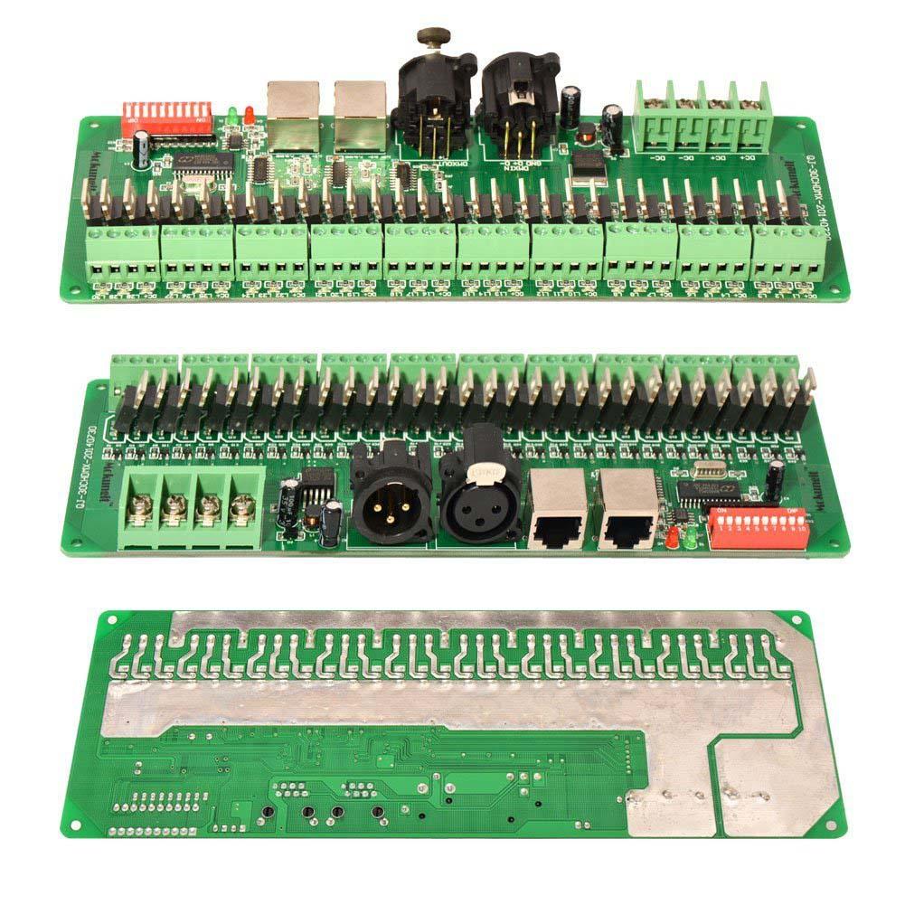 Newest New 30 Channel DMX 512 RGB LED Strip Controller DMX Decoder LED DMX Dimmer Driver DC 9V-24V @8 JD9 350ma constant current 12ch dmx dimmer 12 channel dmx 512 dimmer drive led dmx512 decoder rj45 xrl 3p