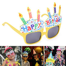 75ebd18b5ec Novelty Costume Sunglasses for Birthday Funny Decorative Ice Cream Happy  Birthday Glasses Gift Party Supplies Decoration
