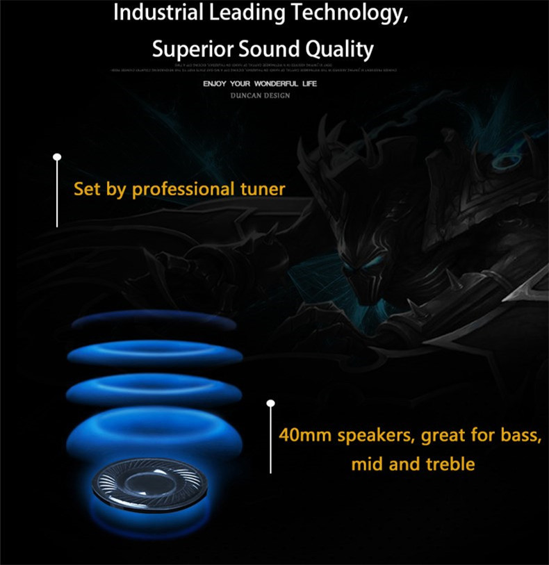 XIBERIA T18 Stereo Gaming Headphones with Microphone 7.1 Surround Sound Deep Bass Gamer Headset for Computer Best casque (18)