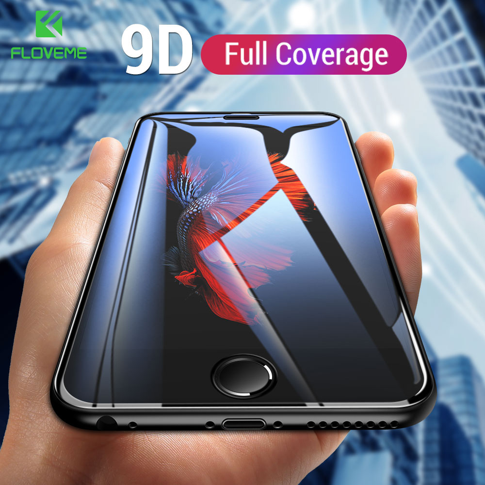 FLOVEME Screen-Protector Protective-Glass-Film iPhone 7-Glass 6s-Plus for SE 5S XR Max-9d