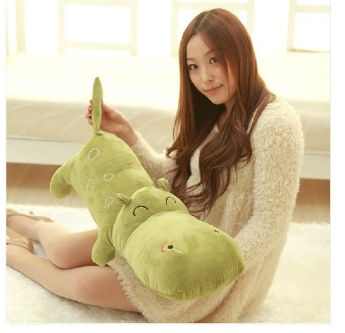 cute big  lovely hippo toy plush doll cartoon hippo doll gift toy about 120cm green the huge lovely hippo toy plush doll cartoon hippo doll gift toy about 160cm purple