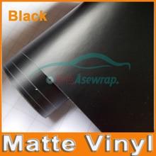 Премиум черный цвет матовая поверхность винил обертывание с воздушными пузырьками атласная матовая черная пленка для оклейки машины пленка наклейка автомобиля с разным размером/рулон