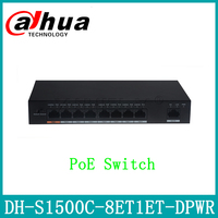 Dahua DH S1500C 8ET1ET DPWR PoE Switch With Logo 8CH Ethernet Support POE POE+ Hi PoE Upgrade from DH S1500C 4ET2ET DPWR
