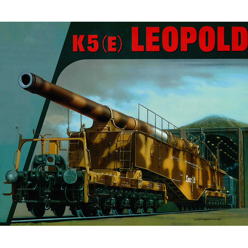 1:35 Tweede Wereldoorlog Duitse K5 Trein Gun Leopold Vliegtuigen Papier Model Monteren Hand Werk Puzzel Spel Diy Jongen Speelgoed