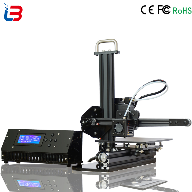 Good Quality Mini DIY 3D Printer Desktop Portable for beginner build size 150 150 150mm CE FCC RoHS certifiction LCD 8GB SD free