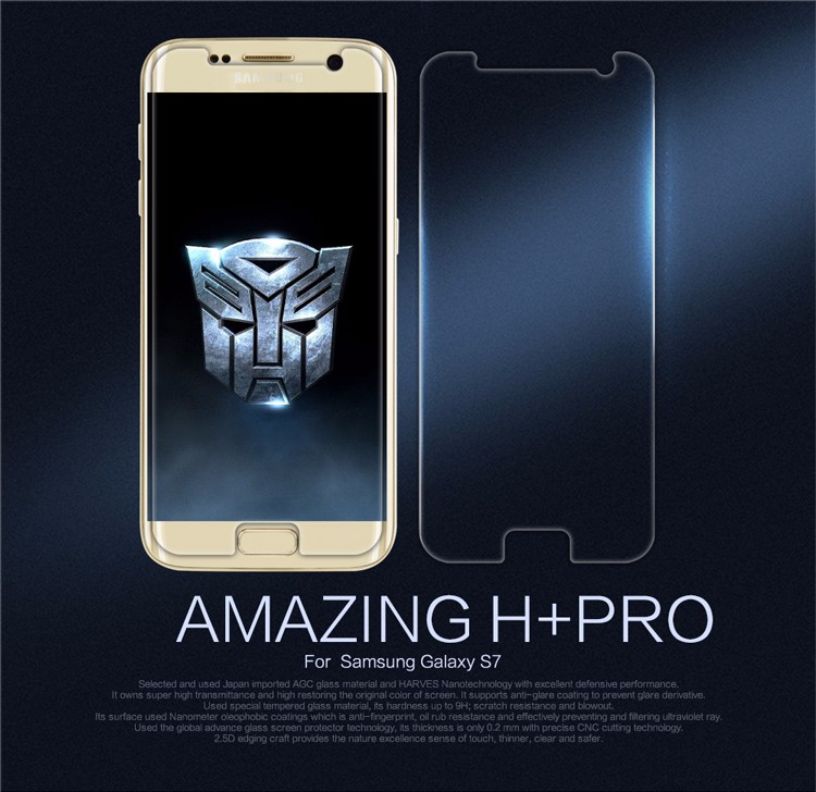 NILLKIN Incroyable H + PRO Anti-Explosion Trempé Protecteur D'écran En Verre Film Pour Samsung Galaxy S7/Jungfrau/Chanceux/G930A/G9300 (5.1
