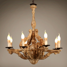 Modern Chandelier Lighting Lampadario Vintage Wood Chandeliers  Lustre Bois For Home Decor Lustres