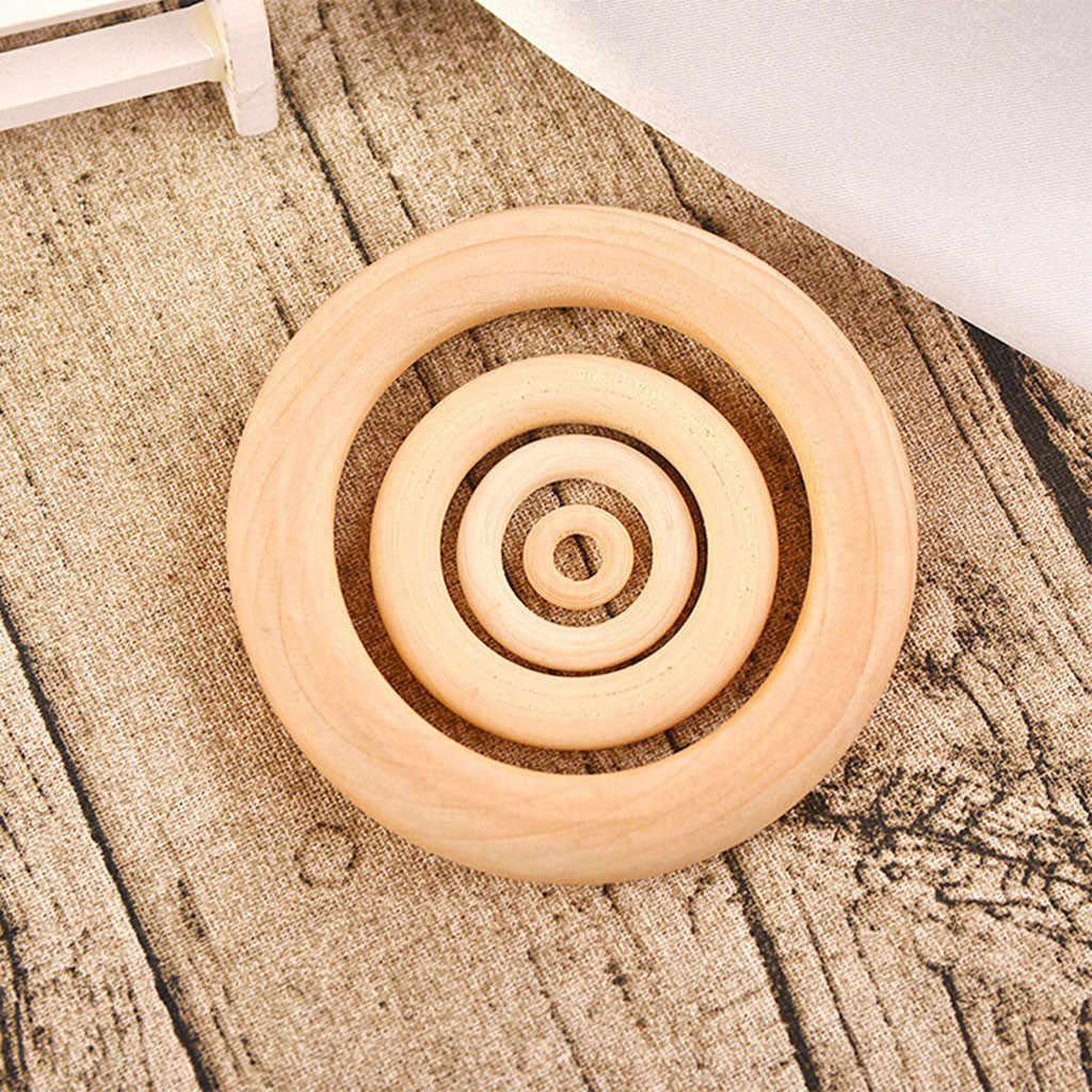 20 шт 35/55/70 мм деревянное кольцо DIY ремесла разъемы круги бусины из натурального дерева ювелирные украшения кольца #22/6