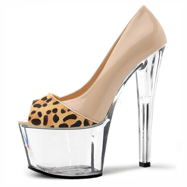 <font><b>7</b></font> <font><b>sexy</b></font> high-heeled shoes and platform shoes 17 cm strip crystal toe shoes <font><b>sexy</b></font> shoes image